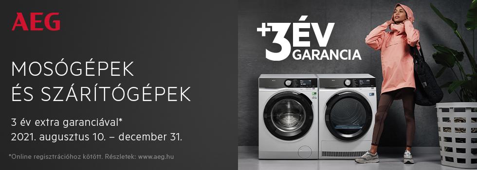 AEG Laundry extended warranty campaign 2021 HU